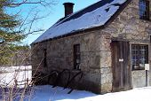 Stone Building In Winter poster