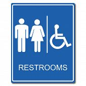 image of female toilet  - Restrooms Sign - JPG