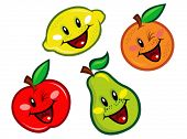 image of pie-in-face  - Happy Fruits Characters - JPG