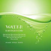 Постер, плакат: Вода фон векторная иллюстрация