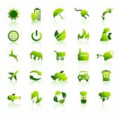 Постер, плакат: Набор иконок окружающей среды 1