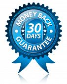 Money back 30 days label