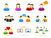 pic of people icon  - Colorful social media people icon set - JPG