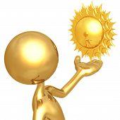 Weather Presenter Sun poster