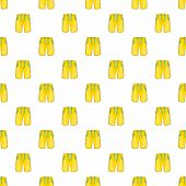 Yellow Shorts For Swimming Pattern. Cartoon Illustration Of Yellow Shorts For Swimming Pattern For W poster