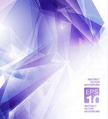 Постер, плакат: Хай тек вектор абстрактный фон фиолетовый