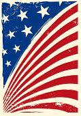 foto of arriere-plan  - American grunge flag - JPG