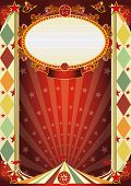 stock photo of circus tent  - circus vintage rhombus poster - JPG