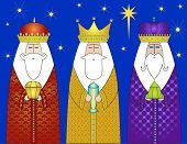 Three Wise Men Bearing Gifts to Christ