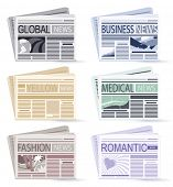 set of six Newspapers