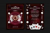 Casino Background Poster, Flyer, Vip Invitation Poker Game. Casino Poster Or Banner Background Or Fl poster