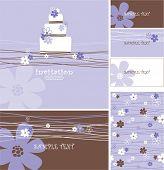 stock photo of wedding invitation  - wedding or birthday cards with copy space - JPG