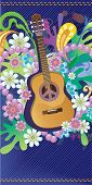 stock photo of woodstock  - Composition with guitar - JPG