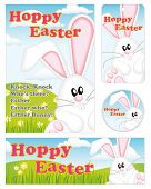 stock photo of buck teeth  - Cute Easter Bunny Greeting Card - JPG