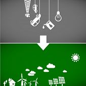 sustainable development concept - ecology banners 2 // see also others from this series in my portfo