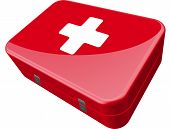 pic of first aid  - red first aid kit - JPG