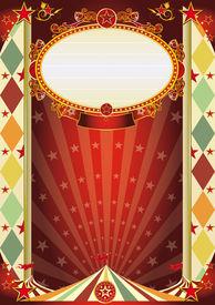 stock photo of circus tent  - circus vintage rhombus poster - JPG