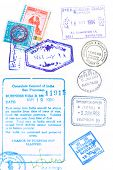 stock photo of larnaca  - Assorted passport stamps and visa - JPG