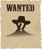 picture of gunfighter  - the vector wanted poster image EPS 8 - JPG