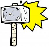 stock photo of thors hammer  - war hammer cartoon - JPG