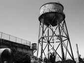 Alcatraz Prison, San Francisco, Us - June 2005: A View Of The Prison Water Tower On June 27, 2005 In