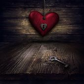 foto of lock  - Valentines design  - JPG