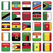 picture of north sudan  - Africa Flags in squared Buttons - JPG