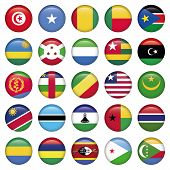 picture of north sudan  - Africa Flags Round Buttons - JPG