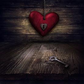 stock photo of keyholes  - Valentines design  - JPG