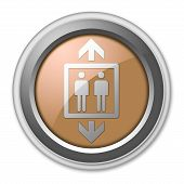 picture of elevator icon  - Icon Button Pictogram Illustration Image with Elevator symbol - JPG