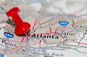 Atlanta Georgia City Pin On The Map poster