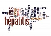 picture of hepatitis  - Hepatitis virus word cloud image with hi - JPG