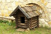 stock photo of wooden shack  - Old retro wooden shack - JPG