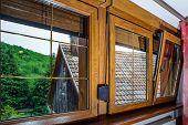 pic of hermetic  - Laminated PVC windows in villagr house inside view - JPG