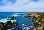 stock photo of mendocino  - Point Arena Lighthouse in California - JPG