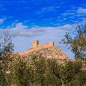 picture of sax  - Alicante Sax village castle and skyline in Spain - JPG