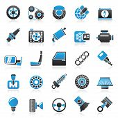 picture of accumulative  - Car parts and services icons  - JPG