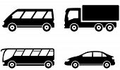 foto of truck-cabin  - isolated transport set icon with vehicle - JPG