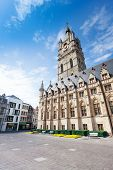 pic of gents  - View of square with Het Belfort van Gent in beautiful Ghent in Flemish region - JPG