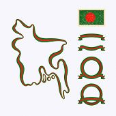 picture of bangladesh  - Outline map of Bangladesh - JPG