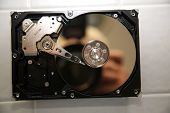 stock photo of hard-on  - A unique view of a Genuine Computer Hard Drive - JPG