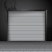 image of roller shutter door  - Black roller shutter door - JPG