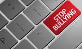stock photo of stop bully  - Computer keyboard with word Stop Bullying  - JPG