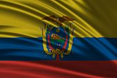 stock photo of guayaquil  - Amazing Flag of Ecuador - JPG