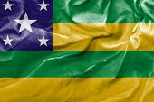stock photo of bandeiras  - Amazing flag of the State of Sergipe  - JPG