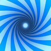 pic of brainwashing  - blue spiral with light at the end - JPG