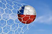 pic of netball  - Amazing Goal with Soccer Ball of Chile  - JPG