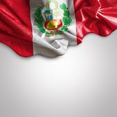 stock photo of flutter  - Waving flag of Peru - JPG