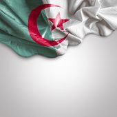pic of algiers  - Waving flag of Algeria - JPG