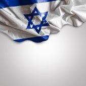 stock photo of israeli flag  - Waving Flag of Israel - JPG